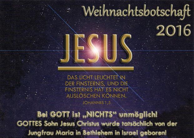 Weihnachtsbotschaft Bibel